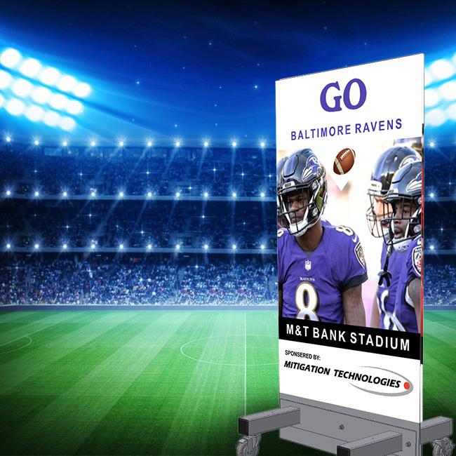 SGT. MAJ. STAN with Baltimore Ravens signage