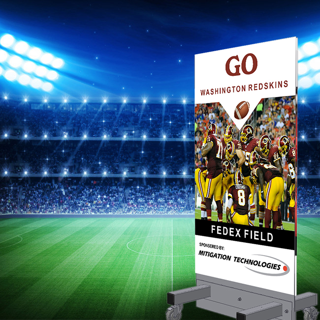 SGT. MAJ. STAN with Washington Redskins signage